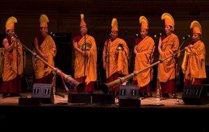 A performance by monks is always part of Tibet House benefit