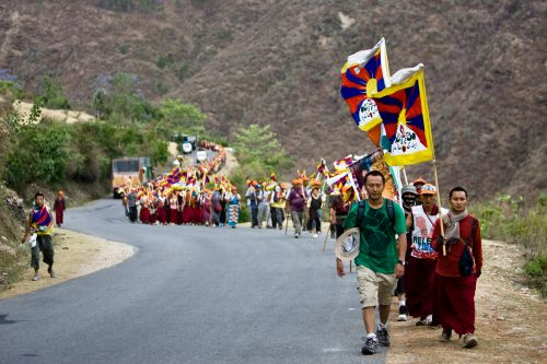 Exiled Tibetans seeking independence from China go on long march to their homeland (photo courtesy of White Crane Films)