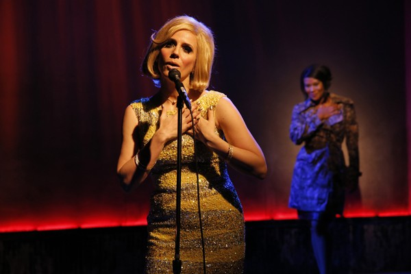 Kirsten Holly Smith sings her heart out as she channels legendary British singer Dusty Springfield in FOREVER DUSTY (photo by Joan Marcus)