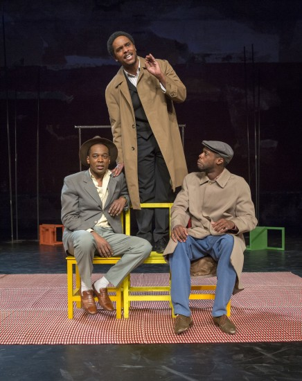 Three friends talk about life and love in South African drama THE SUIT (photo by Richard Termine)