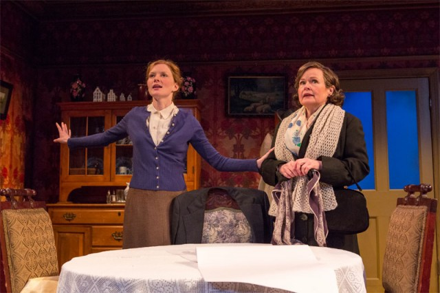 Katie (Wrenn Schmidt) shares her dreams with Amelia (Margaret Daly) in KATIE ROCHE (photo by Richard Termine)