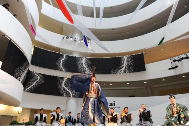 Striking production of SANBASO, DIVINE DANCE lights up the Guggenheim (photo by Enid Alvarez; © 2013 Solomon R. Guggenheim Foundation, New York)