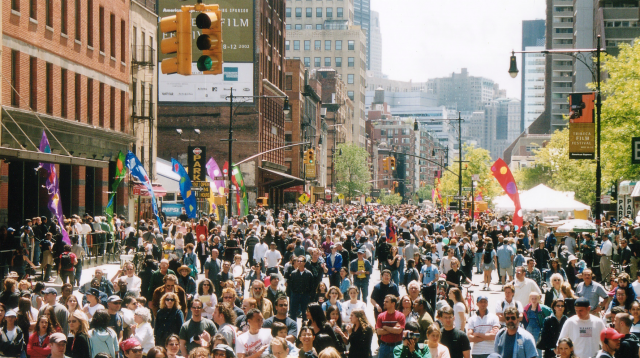Crowds will flock to TriBeCa for film festival street fair and sports day on Saturday