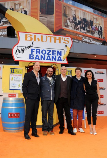 ARRESTED DEVELOPMENT will celebrate its return with free frozen bananas in New York on May 13 (photo by Stuart Wilson/Getty Images for Netflix)