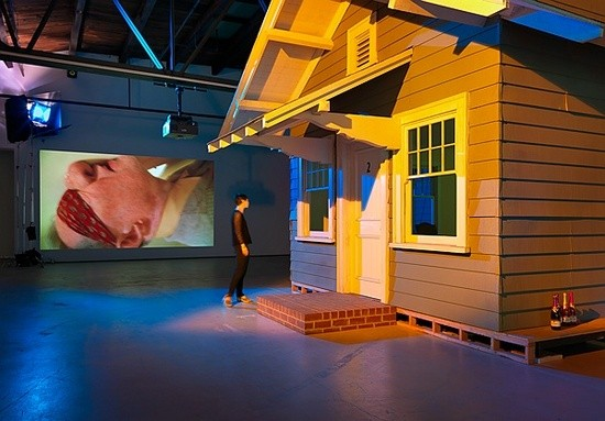 "Paul McCarthy and Damon McCarthy, ""Rebel Dabble Rabble,"" multimedia installation (photo courtesy Hauser & Wirth)"