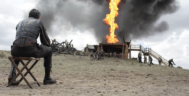 A desperate man (Daniel Day-Lewis) goes on a dark journey in Paul Thomas Anderson's epic THERE WILL BE BLOOD