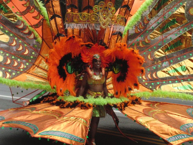 Spectacular costumes are all part of the fun of annual West Indian American Day Carnival on Labor Day in Brooklyn (photo by twi-ny/mdr)