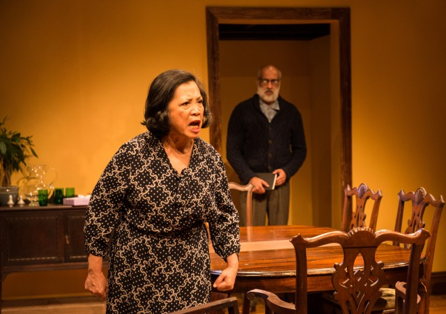 Bessie Berger (Mia Katigback) will do whatever it takes to protect the honor of her family in NAATCO revival of Clifford Odets's first play (photo by William P. Steele)