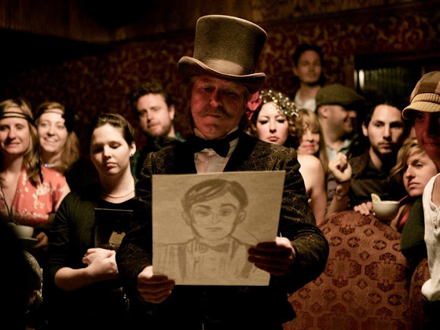Evidence is presented as SPEAKEASY DOLLHOUSE seeks to find answers to real-life murder (photo © Margee Challa, 2012)