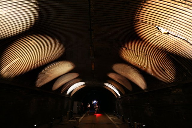 """Rafael Lozano-Hemmer's interactive """"Voice Tunnel"""" is a highlight of this year's free Summer Streets programming"""