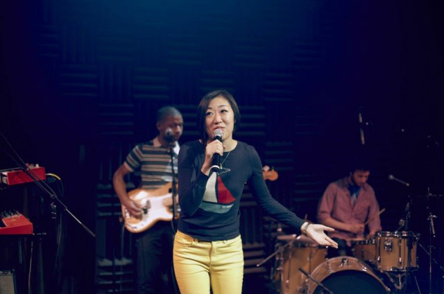 Young Jean Lee faces her fear of performing and people's fear of death in WE'RE GONNA DIE (photo by Blaine Davis)