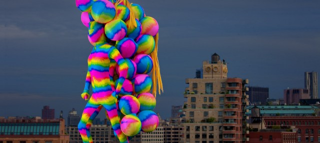 "Andrey Bartenev and Mei Ann Teo's ""Bubbles of Hope"" will roam around DUMBO on Saturday afternoon"