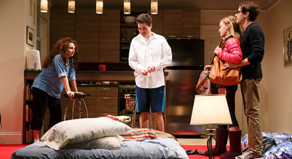 Cousins fight over a family heirloom in Joshua Harmon's powerful BAD JEWS (photo by Joan Marcus)