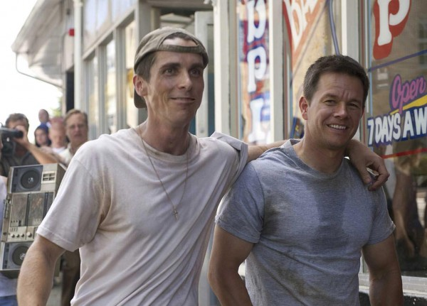"""Brothers Dicky Eklund (Christian Bale) and """"Irish"""" Micky Ward (Mark Wahlberg) go through good times and bad in THE FIGHTER"""