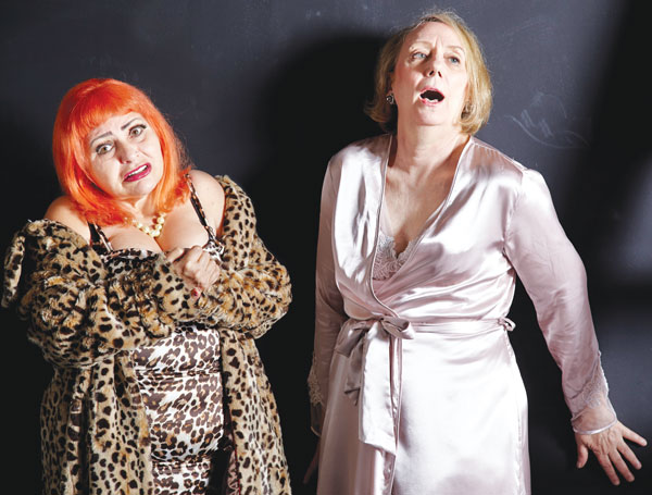 Downtown legends Penny Arcade and Mink Stole team up in Tennessee Williams's THE MUTILATED (photo by Cosmin Chivu)