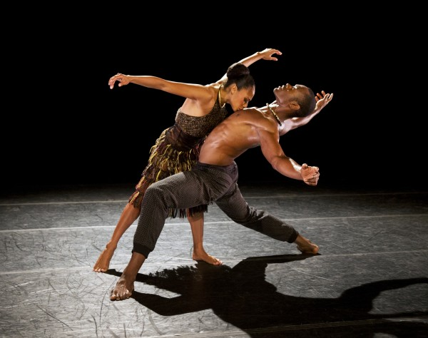 AAADT's Linda Celeste Sims and Jamar Roberts get up close and personal in Aszure Barton's LIFT (photo by Paul Kolnik)