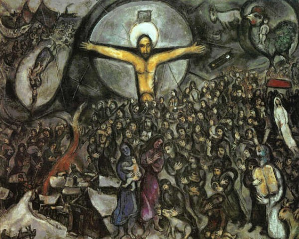 This Week In New York Marc Chagall White Crucifixion Poem