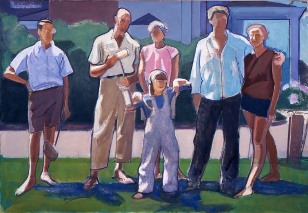"Leland Bell, ""Croquet Party,"" oil on canvas, 1965 (Collection of the Center for Figurative Painting, New York)"