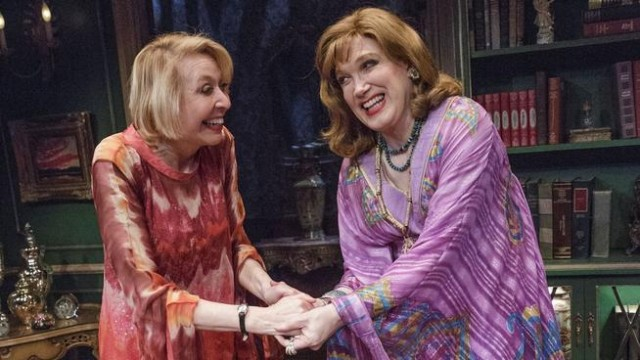 Longtime collaborators Julie Halston and Charles Busch team up in caftan-laden farce (photo by James Leynse)