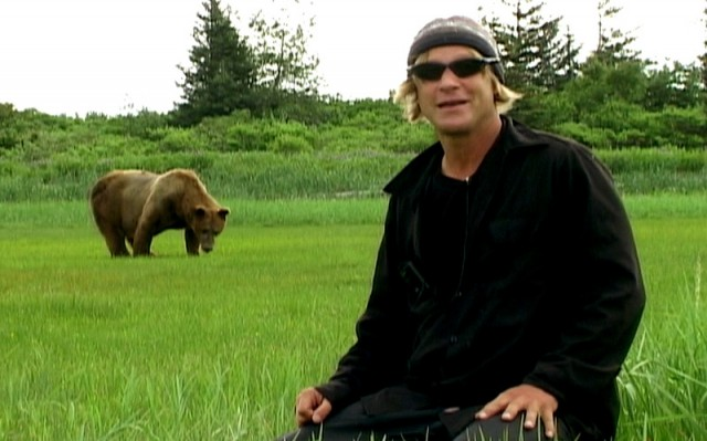 Timothy Treadwell learns a rather painful lesson about living with bears in GRIZZLY MAN