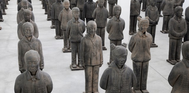 "Prune Nourry's ""Terracotta Daughters"" will stand guard at 104 Washington St. for eighth edition of CTL"
