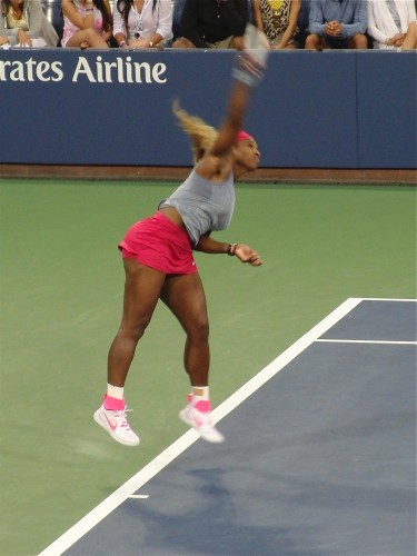 Serena Williams is seeking her third straight championship at the U.S. Open (photo by twi-ny/mdr)
