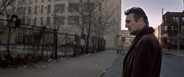 Unlicensed PI Matthew Scudder (Liam Neeson) searches Red Hook for clues to serial killings in A WALK AMONG THE TOMBSTONES