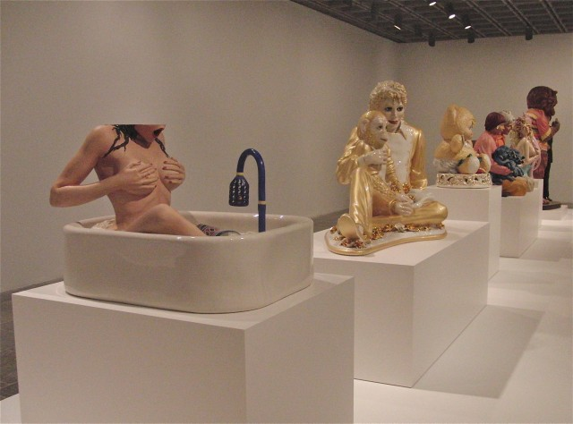 "Jeff Koons's ""Banality"" series offers different views of domesticity and life as kitsch (photo by twi-ny/mdr)"