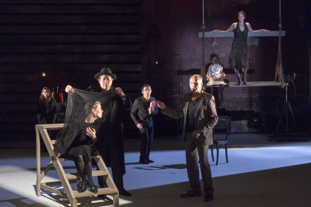 Glorious production seeks to life the veil on some of the many mysteries of the theater (photo by Richard Termine)