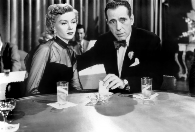 Gloria Grahame and Humphrey Bogart in IN A LONELY PLACE