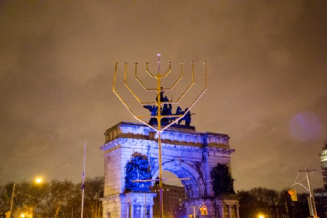 World's Largest Menorah will be lit nightly in Grand Army Plaza (photo courtesy Chabad Park Slope)