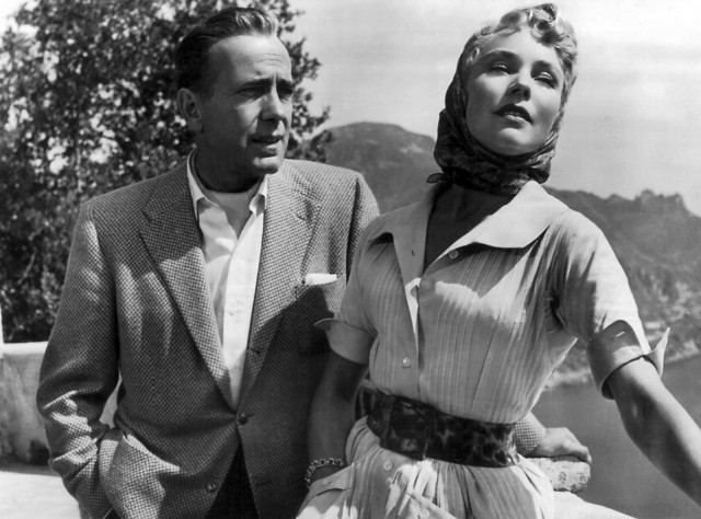 Humphrey Bogart and Jennifer Jones star as would-be married lovers in film noir parody