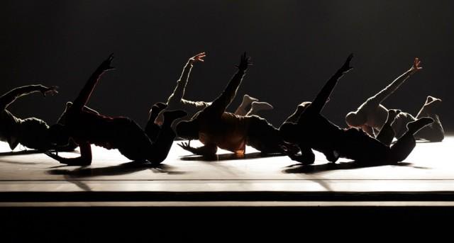 The Ailey men strut their stuff in Hofesh Schechters dazzling UPRISING (photo by Paul Kolnik)