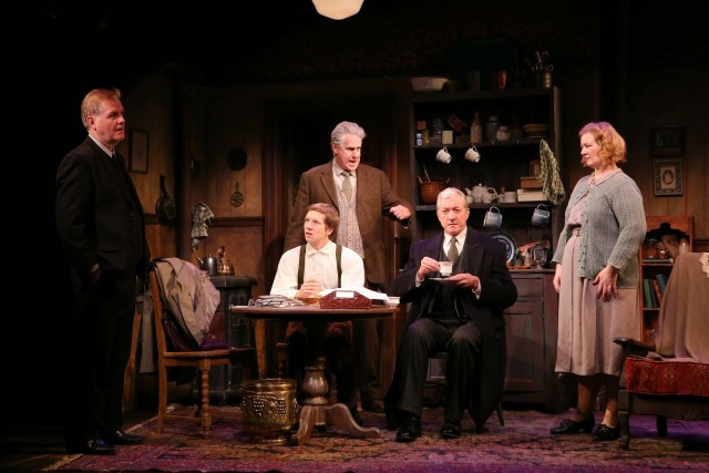 Revival of Hugh Leonards Tony-winning play is at the Irish Reps temporary home in Union Square  (photo by Carol Rosegg)