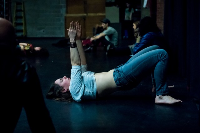 Luciana Achugar explores the relatioship between performer and spectator, as well as the venue itself, in OTRO TEATRO: THE PLEASURE PROJECT (photo by Ian Douglas)