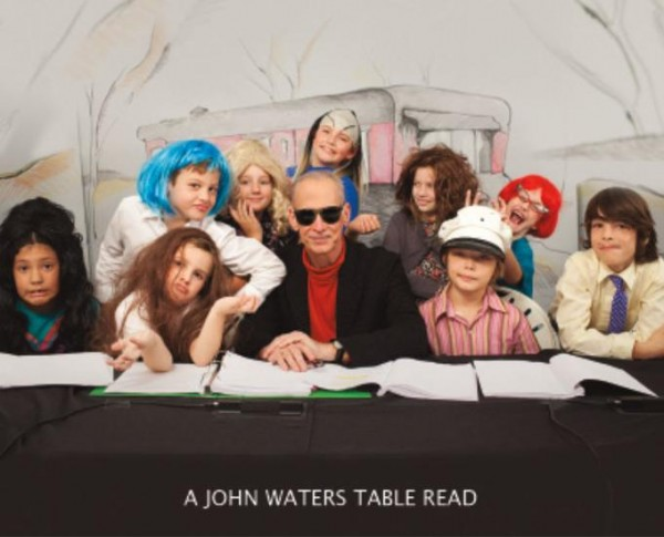 John Waters's latest exhibit is highlighted by new film showing children reading script of cleaned-up version of PINK FLAMINGOS retitled KIDDIE FLAMINGOS