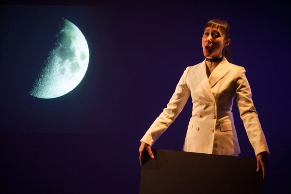 Hai-Ting Chinn's SCIENCE FAIR takes viewers on a multimedia operatic journey (photo by Benjamin Heller)