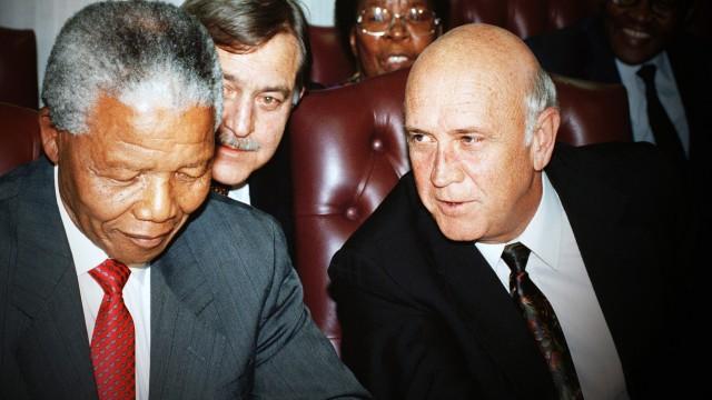 Nelson Mandela and F. W. de Klerk
