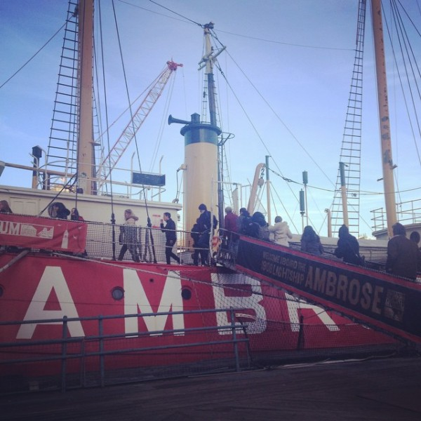 Free tours aboard the Ambrose are part of South Street Seaport Museum opening-day festivities