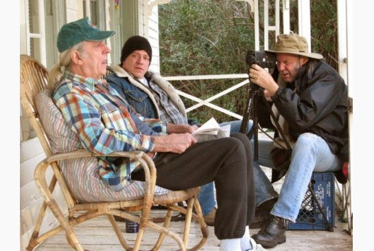 Neil Young / Bernard Shakey on the set of GREENDALE