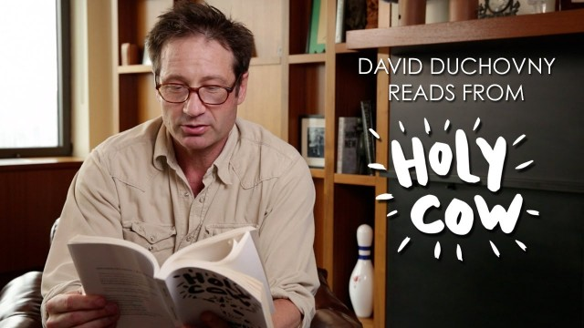 David Duchovny will present his new book, HOLY COW, at BookCon at the Javits Center this week