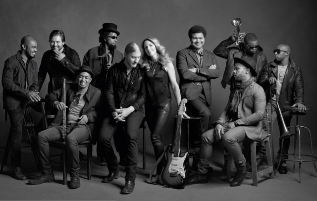 The Tedeschi Trucks Band kicks off the free summer music season in Central Park n May 14 (photo by Mark Seliger)