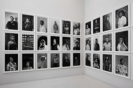 Zanele Muholi (South African, b. 1972). Faces and Phases installed at dOCUMENTA (13), Kassel, Germany, 2012. (Photo: © Anders Sune Berg)