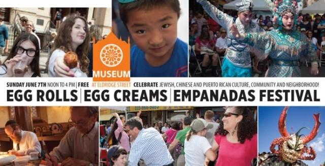 egg rolls egg creams empanadas