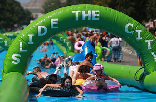 Slide the City will be coming to Park Ave. as part of Summer Streets celebration