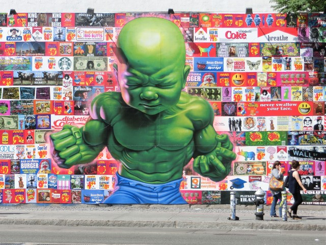 Baby Hulk is about to throw one helluva tantrum on Houston St. (photo by twi-ny/mdr)