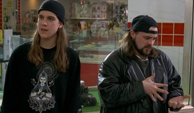 Kevin Smith (r.) will talk about MALLRATS, and hopefully its upcoming sequel, at free twentieth anniversary screening Tuesday night in Williamsburg