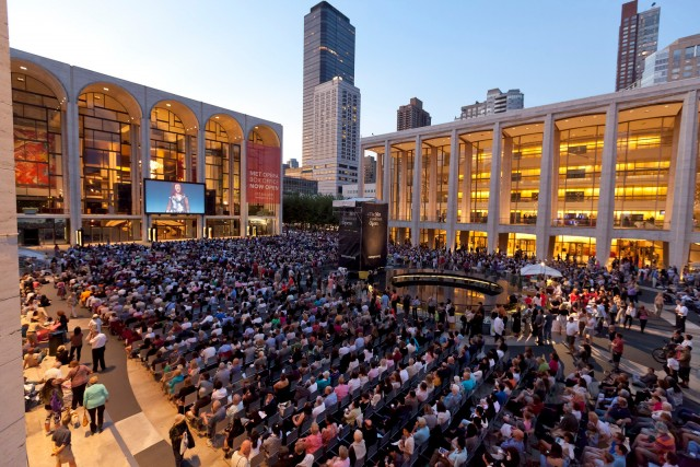 Free summer festival screens recent Met performances outside in HD (photo by Richard Termine/Metropolitan Opera)