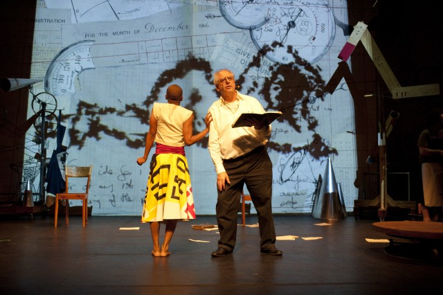 William Kentridge stars in his multimedia opera REFUSE THE HOUR (photo by John Hodgkiss)