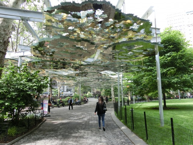 """Spoken-word performances will take place under Teresita Fernández's """"Fata Morgana"""" installation in Madison Square Park on September 17 (photo by twi-ny/mdr)"""